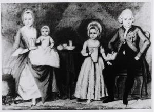 Portret van  Albertus Kleijnenberg (1744-1826), Jacoba van Leeuwen (1840-1835) en hun kinderen