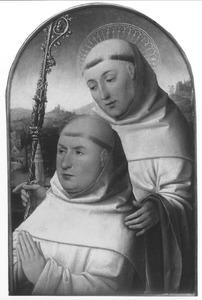 De H. Bernardus van Clairvaux met een monnik als stichter