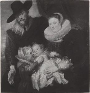 Portret van een echtpaar met twee kinderen, mogelijk Cornelis de vos en zijn familie