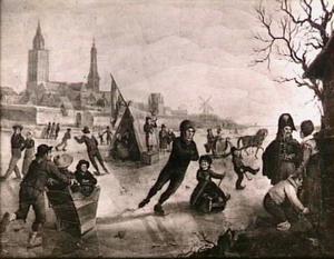Wintergezicht op de IJssel bij Zutphen