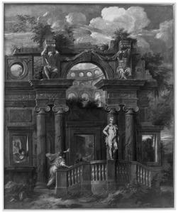 Mercurius verandert de jaloerse Aglauros in steen (Ovidius, Metamorfoses, 2:710-835)