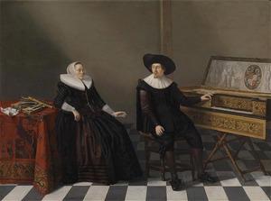 Portret van Nicolaes Jansz. Lossy (ca. 1604-1664) en Marritgen Pieters