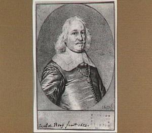 Portret van de arts en dichter Jacob Westerbaen (1599-1670)