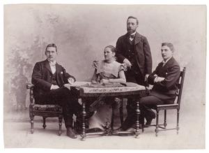 Portret van Louis Theodore Pallard (1839-1916) en zijn gezin