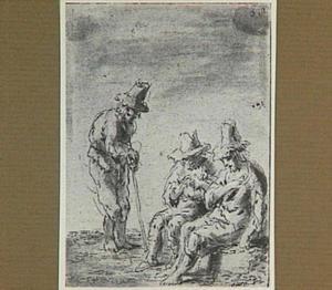 Lazarillo ontmoet twee landlopers (Lazarillo de Tormes dl. 2, cap. 14, p. 96)