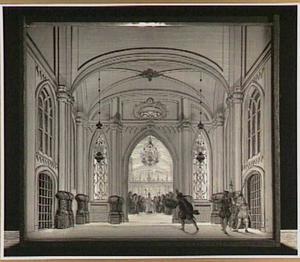 Scène uit 'Gijsbrecht van Aemstel' van Joost van den Vondel (vierde bedrijf, eerste scène, vers 1042)
