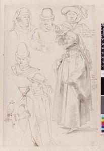 Studie van Johan van Croy en vijf edellieden
