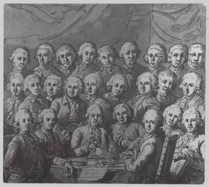 Groepsportret van muntmeesters uit Dordrecht