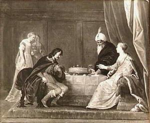 Ester beschuldigt Haman voor Ahasveros (Ester 7:1-17)