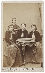 Portret van de dochters van Hendrik Frederik Willem Schalekamp (1807-1874) en Josine Françoise Buijs (1808-1893)