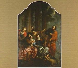 De H. Familie met de H. Anna, Elisabeth en Johannes de Doper als kind