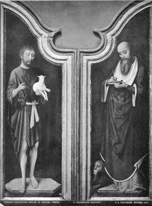 De H. Johannes de Doper (links); de H. Hieronymus (rechts)