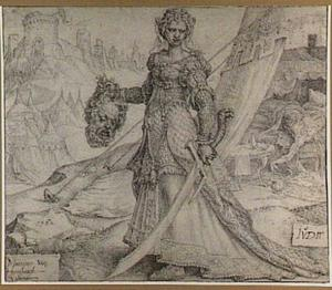 Judith onthoofdt Holofernes met zijn eigen zwaard (Judith 8-16)