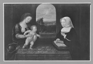Maria met kind en Margaretha van Oostenrijk