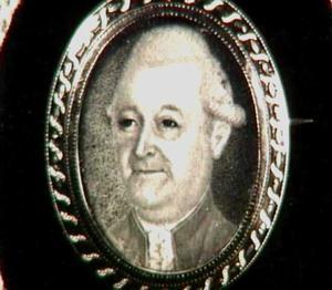 Portretminiatuur van Heilige Justus Oldenbarneveld, genaamd Witte Tullingh (1745-1795)