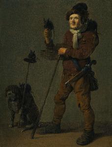 Een rattenvanger met zijn hond