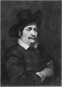 Portret van een man met een brief