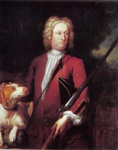 Portret van Sir George Warburton 3RD BT. (1675-1743), echtgenoot van Diana Warburton, Lady Grosvenor