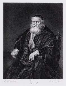 Portret van een oude man in een tabbaard
