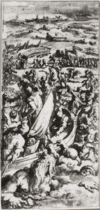 De overwinning op de Turken in de slag bij Piombino 1555