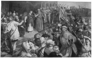 Daniël bewijst Suzanna's onschuld: de ouderlingen worden weggevoerd en gestenigd (Daniel 13)
