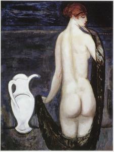 Vrouwelijk naakt op de rug gezien
