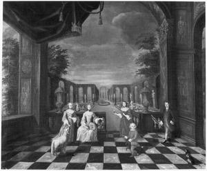 Portret van de kinderen van Jan Maximiliaan baron van Tuyll van Serooskerken (1710-1762) en Ursula Christina Reiniera van Reede Ginkel (1719-1747)