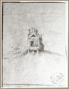 Waakhuis op de punt van een van de bastions van Utrecht (Zonnenburg, Manenburg, Sterrenburg of Morgenster)