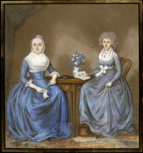 Dubbelportret van twee vrouwen