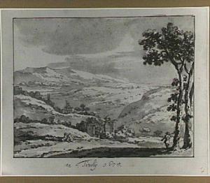 Heuvellandschap met Italiaanse motieven