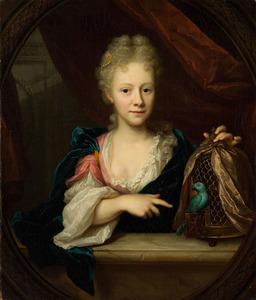 Portret van Sara Backer (1695-1732)