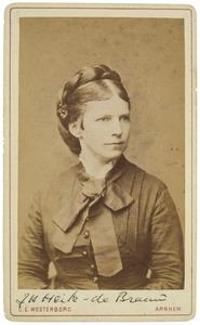 Portret van Joanna Henrica de Brauw (1835-1889)