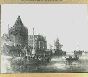 Gezicht op de Schreierstoren te Amsterdam