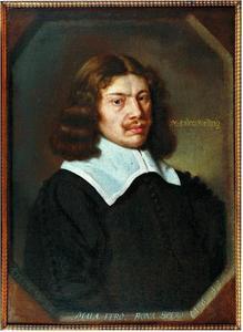 Portret van de dichter Anders Christensen Bording (1619-1677)