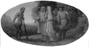 De ziener Tirenio en een sater (uit: Guarini, Il Pastor Fido)