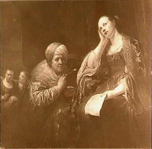 Ester, vastend, na ontvangst van Mordekai's brief waarin hij het complot tegen Ahsveros onthuld (Ester 2:22)
