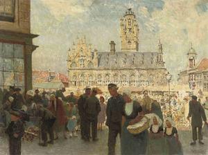 Het stadhuis te Middelburg