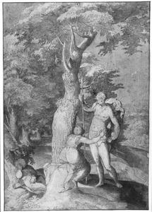 Venus probeert  Adonis te weerhouden van de jacht