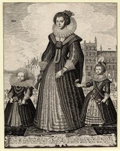 Portret van Amalia van Solms (1602-1675) met haar twee oudste kinderen