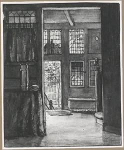 Interieur van de woning van Gerrit Lamberts aan de Bloemgracht, te Amsterdam