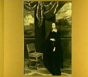 Portret van een onbekende geestelijke