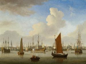 Gezicht op het IJ en Amsterdam