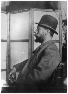 Portret van de schilder George Hendrik Breitner