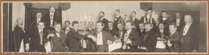 Feestelijk diner ter ere van het Gauklerfest 1911, in het Ausstellungspalast te Dresden