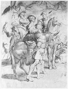 Deel van jachtgezelschap van keizer Maximiliaan van Oostenrijk