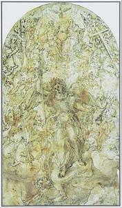 De aartsengel Michaël bevecht de draak