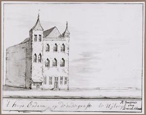 Het huis Oudaen aan de Oudegracht in Utrecht