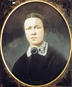 Portret van waarschijnlijk Susanna Cornelia Margaretha Geerling (1825-1873)