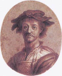 Portret van een man genaamd Bartholomeus Breenbergh (1599-1659)