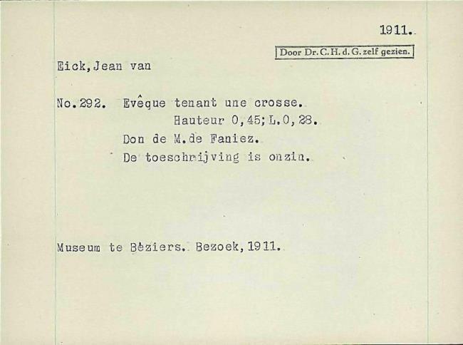 Eyck, Jan van, card number 1145910